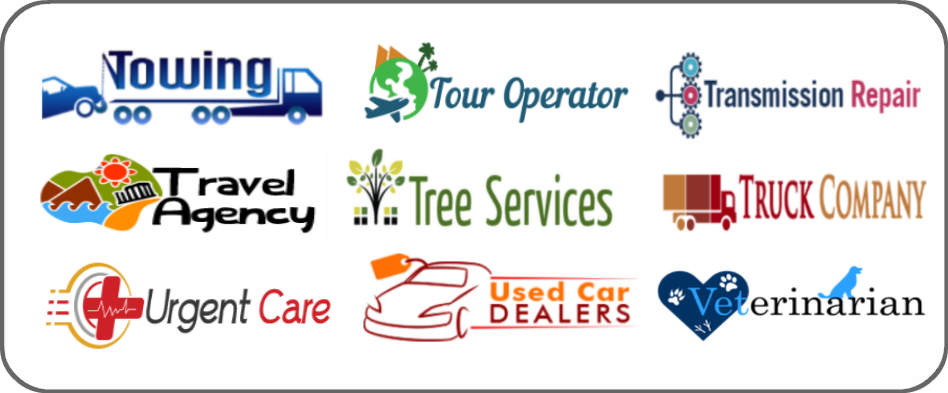 towing, tour operators, transmission repair, travel agency, tree service, truck company, urgent care, used car dealer, veterinarians