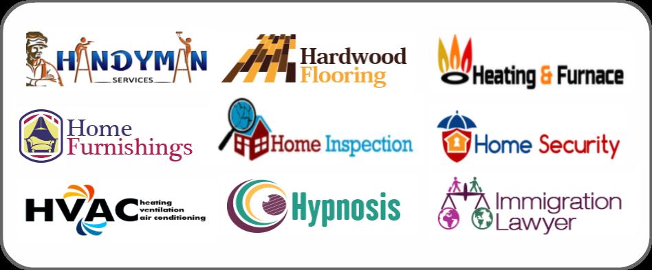 handyman, hardwood flooring, heating furnace, home furnishing, home inspection, home security, hvac, hypnosis, immigration lawyer