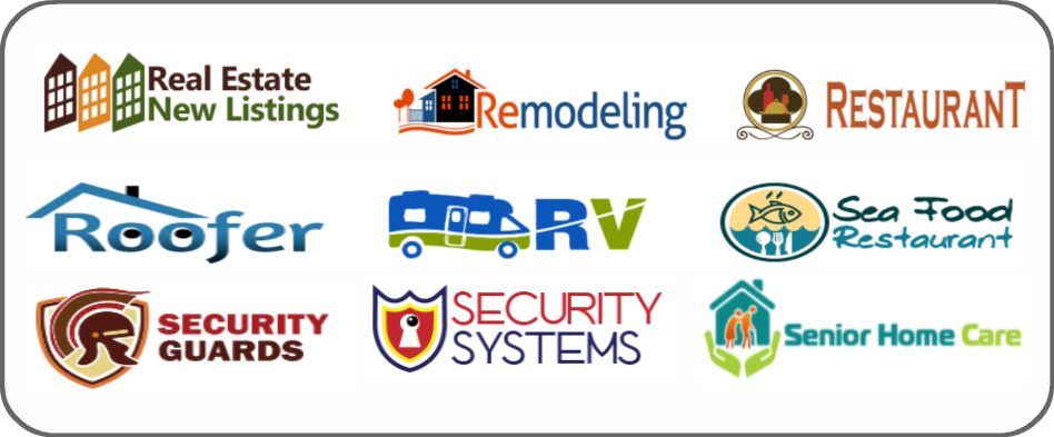 real estate new listings, remodeling, restaurant, roofer, recreational vehicles, RV, seafood restaurant, security guards, security systems, senior home care