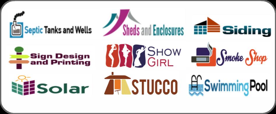 septic tanks, wells, sheds, siding, sign design printing, show girls, smoke shop, solar, stucco, swimming pools