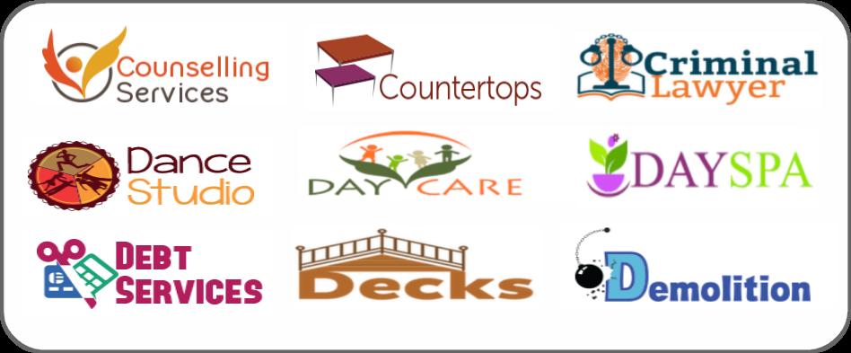 councelling services, countertops, criminal lawyer, dance studio, daycare, day spa, debt services, decks, demolition